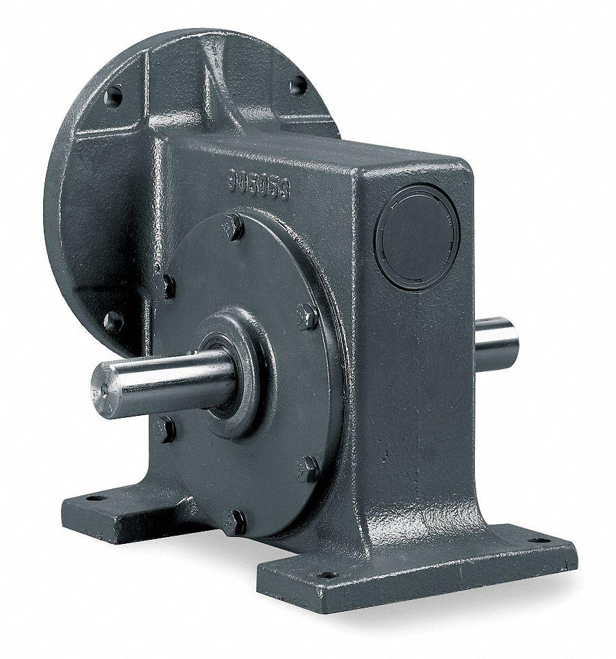 Dayton standard cast iron c face speed reducer double for Dayton gear motor catalog