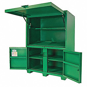 "Green Jobsite Field Office, Width: 60"", Depth: 42"", Height: 80"", Storage Capacity: 116.5 cu. ft."