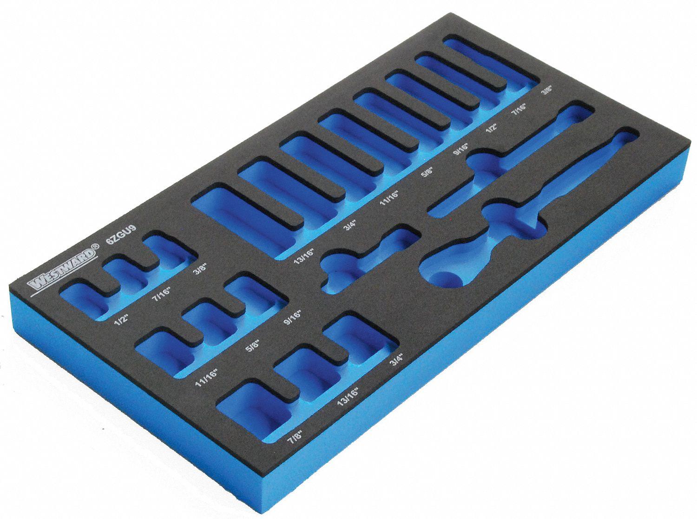 Westward Black Blue Foam Insert Eva Ethylene Vinyl