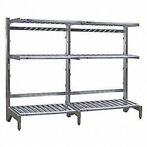 "T-Bar Cantilever Shelving, 96"" Base Length, Number of Sides 1, Number of Arms 3"