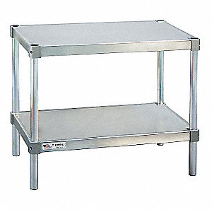 New age fixed height work table aluminum 20 depth 24 for Table th fixed width