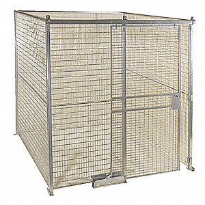 Galvanized Wire Partition Panel, 1 EA