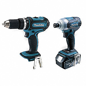 Cordless Combination Kit,18.0V,1.3A/hr.