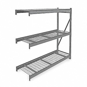 "Bulk Storage Rack Add-On Unit, 72"" Height, 72"" Width, 2750 lb. Load Capacity, Number of Shelves 3"