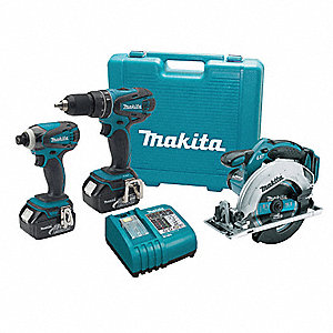 Cordless Combo Kit W Circ Saw,18V