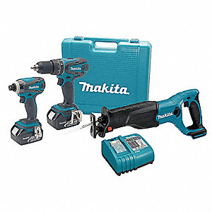 Cordless Combo Kit W Recip Saw,18V