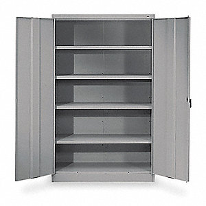"Storage Cabinet, Medium Gray, 78"" Overall Height, Assembled"