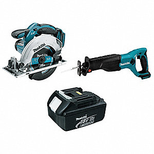 Cordless Circular Saw/Recip/Add Bat