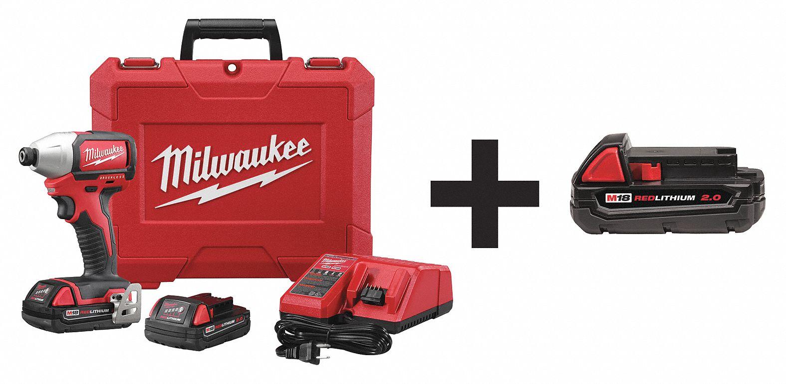 Milwaukee Cordless Impact Driver Kit 18 0v 1 Tool 7dy12