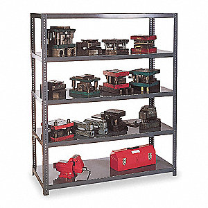 "Freestanding Shelving Unit, 84"" Height, 48"" Width, 3000 lb. Shelf Capacity, Number of Shelves 5"