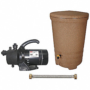"58 gal. Snap-Top Utility Pump, 1/2 HP, 115V, 3/4"" FHT x 60"" Water Connector, 3x4"" Diverter with 2-2x"