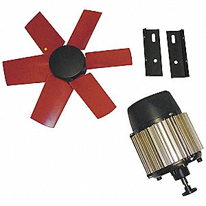 "14"" Corrosion Resistant Exhaust Fan Kit, Number of Blades 6, 3 Phase, Motor RPM 1660"