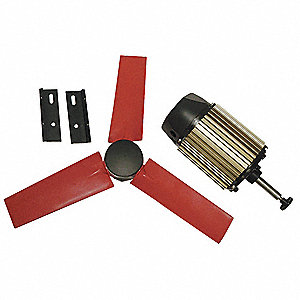 "22"" Corrosion Resistant Exhaust Fan Kit, Number of Blades 5, 1 Phase, Motor RPM 1580"