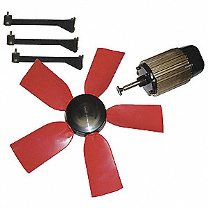 "24"" Corrosion Resistant Exhaust Fan Kit, Number of Blades 5, 3 Phase, Motor RPM 1050"