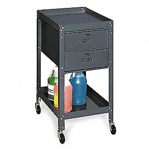 Gray Mobile Service Bench, 400 lb. Load Capacity, Swivel Caster Type