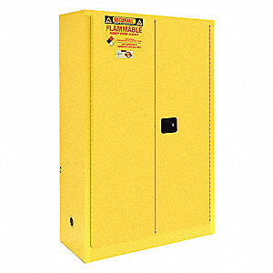 Flammable Safety Cabinet,45 Gal.,Yellow