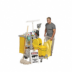 Unstocked Spill Cart,Yellow,40 In.L