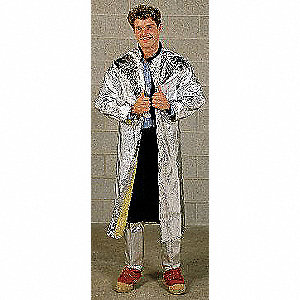Aluminized Jacket,2XL,Carbon Kevlar
