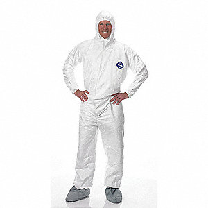 Hooded Tyvek(R),Serged,Boots,3XL