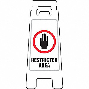 Floor Stand Sign,Restricted Area