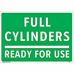 Gas Cylinder Sign Label,7 In. H,10 In. W