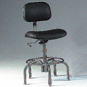 "Black Task Chair, 19 to 25"" Seat Height Range, 250 lb. Weight Capacity"