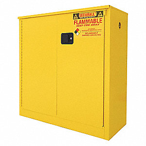Flammable Cabinet,40 Gal.,Yellow