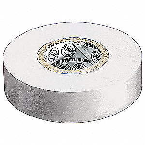 "White Vinyl Electrical Tape, 3/4"" Width, 22 yd. Length, 7 mil Thickness"