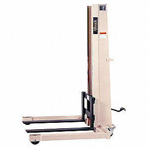 "Stacker, 1000 lb., Fork Width 4"", Fork Length 36"", Lifting Height Max. 66"""