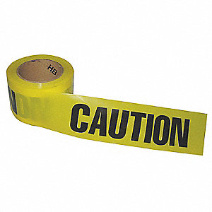Barricade Tape,Yellow/Black,200ft x 3 In