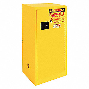 Paints and Inks Cabinet,20 Gal.,Yellow