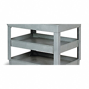 Flat Shelf,Gray,25-1/2 In. L