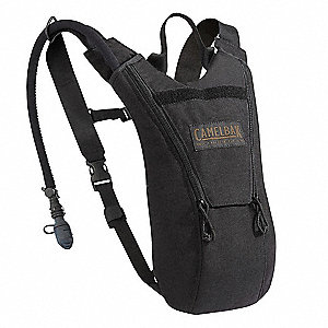"Black Hydration Pack, 70 oz./2.07L Capacity, Depth 1.5"", Length 14"", Width 9.5"""