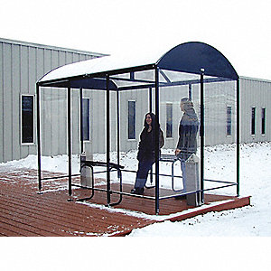 Smoking Shelter,3-Side,80 Hx43Wx168 In L
