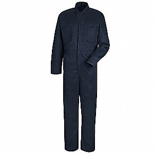 Coverall,Chest 40In.,Navy