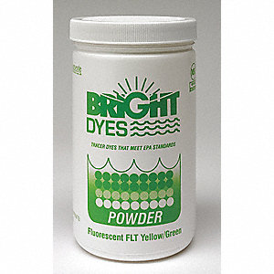 Dye Tracer Powder,Flt Yellow/Green,1 lb
