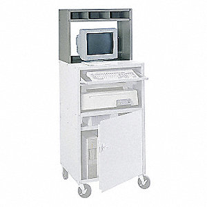 Computer Cabinet,27 x 13 x 21 In,Gray