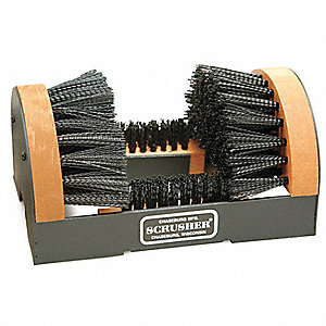Boot Brush with Scraper,Black