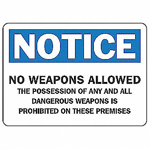 Notice Security Sign,7 x 10In,AL,ENG