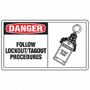Safety Label,Information,3-1/2 In. H,PK5