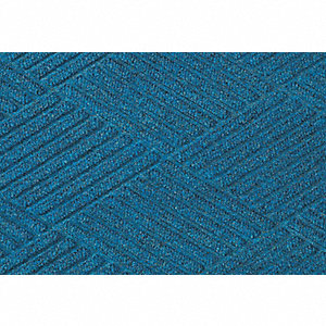 Medium Blue Polypropylene, Entrance Mat, 2 ft. Width, 3 ft. Length