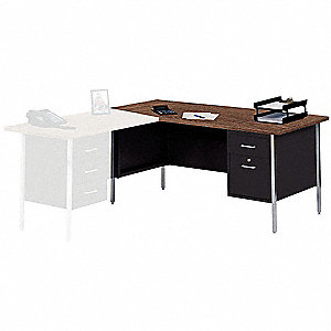 Right Desk Return,66 x 30 In,Black