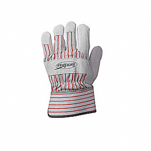 Leather Palm Gloves,Cowhide,Safety,M,PR
