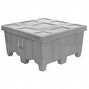 Container,18 cu.-ft.,500 lbs.,Gray