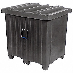 Container,23 cu. ft.,600 lb.,Black