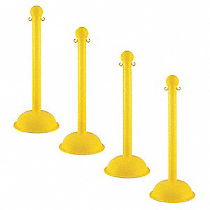 Heavy Duty Stanchion,41 In. H,PK4