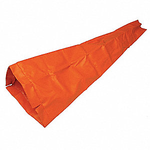 Replacement Windsock,Orange,6-1/2 In. D