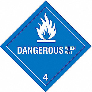 DOT Label,Vinyl,4 In. H,4 In. W,PK25