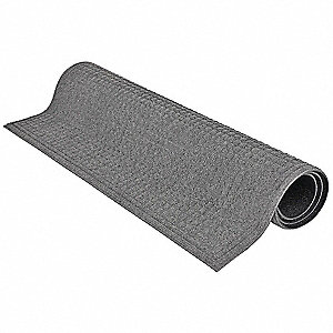 Gray Dual Fiber Carpet, Entrance Runner, 4 ft. Width, 12 ft. Length