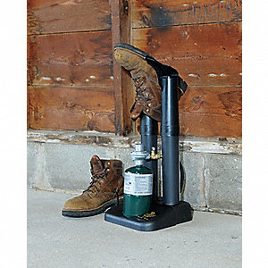 Propane Boot Dryer, Black, Tube Length 10-1/4""